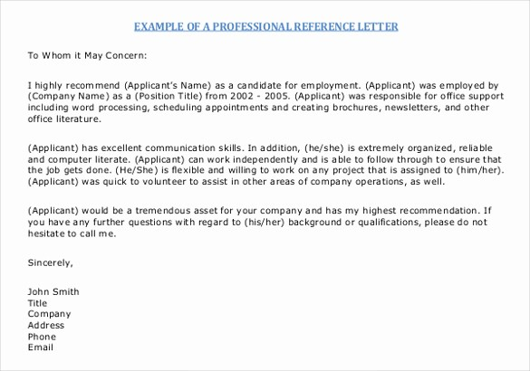 Samples Of Letters Of References Beautiful 42 Reference Letter Templates Pdf Doc