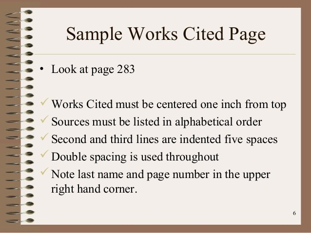 Samples Of Work Cited Pages Awesome How to Write A Works Cited