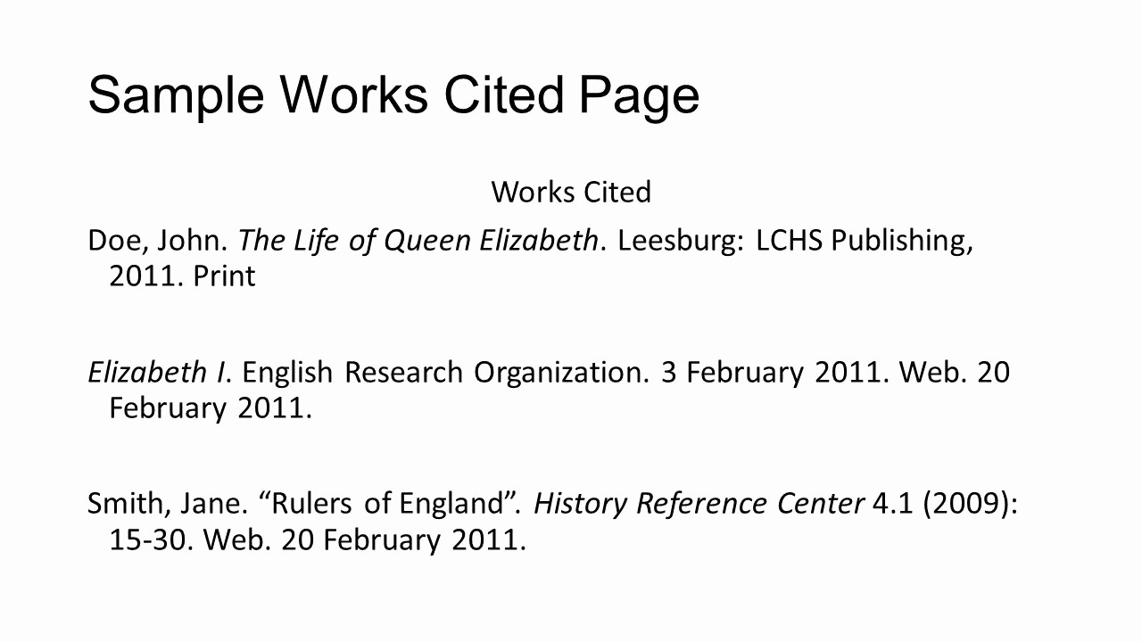 Samples Of Work Cited Pages Elegant Works Cited Parenthetical Citations and Plagiarism Ppt