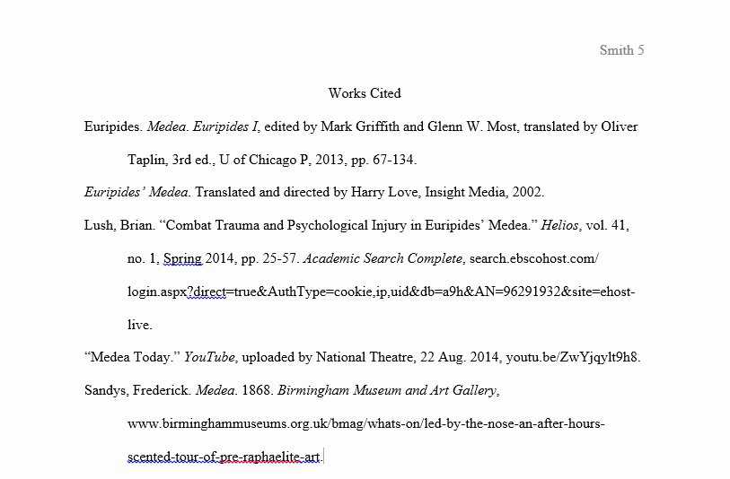 Samples Of Work Cited Pages Fresh format Your Paper Mla Citations 8th Ed Library at
