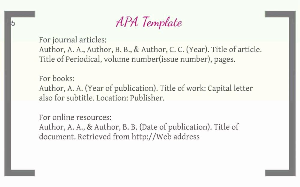 Samples Of Work Cited Pages Lovely Apa format Example Works Cited