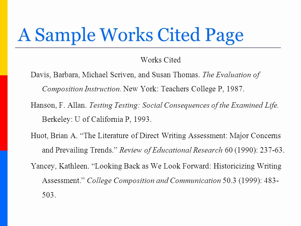 Samples Of Work Cited Pages Lovely How to Create A Works Cited Page In Mla format Ppt Video