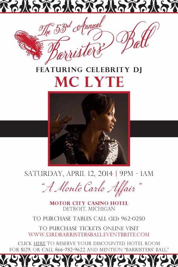 Save the Date Flyer Ideas Beautiful 2014 Detroit Barristers Ball