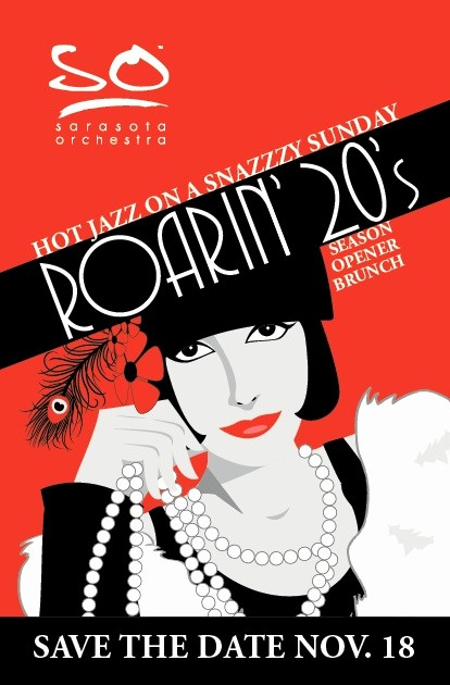 Save the Date Flyer Ideas Beautiful Save the Date Postcard for A Fundraiser with A 1920 S Jazz