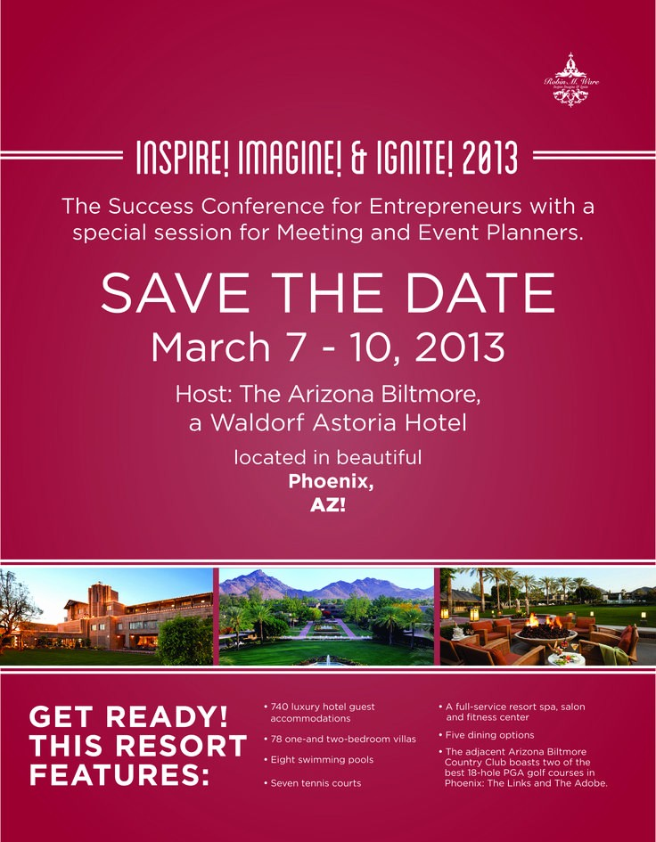 Save the Date Flyer Ideas Elegant Please Save the Date March 7 10 2013 for the Success