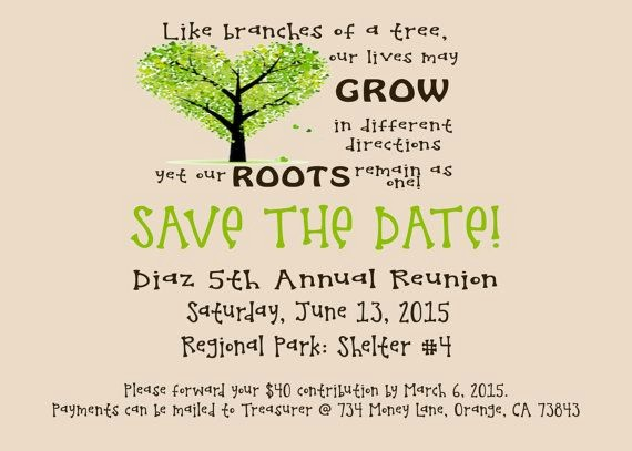 Save the Date Flyer Ideas Lovely 25 Best Ideas About Family Reunion Invitations On