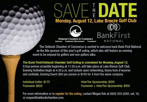 Save the Date Flyer Ideas Luxury Golf Flyers and News On Pinterest