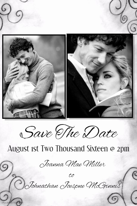 Save the Date Flyer Ideas Luxury Save the Date Template