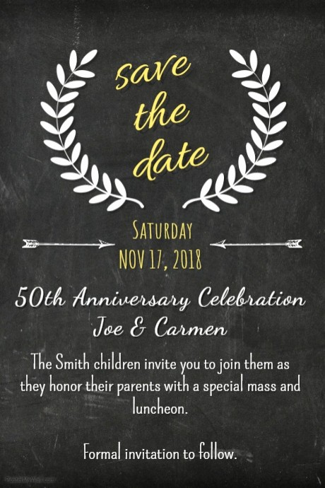Save the Date Flyer Ideas Unique Chalk Save the Date Template