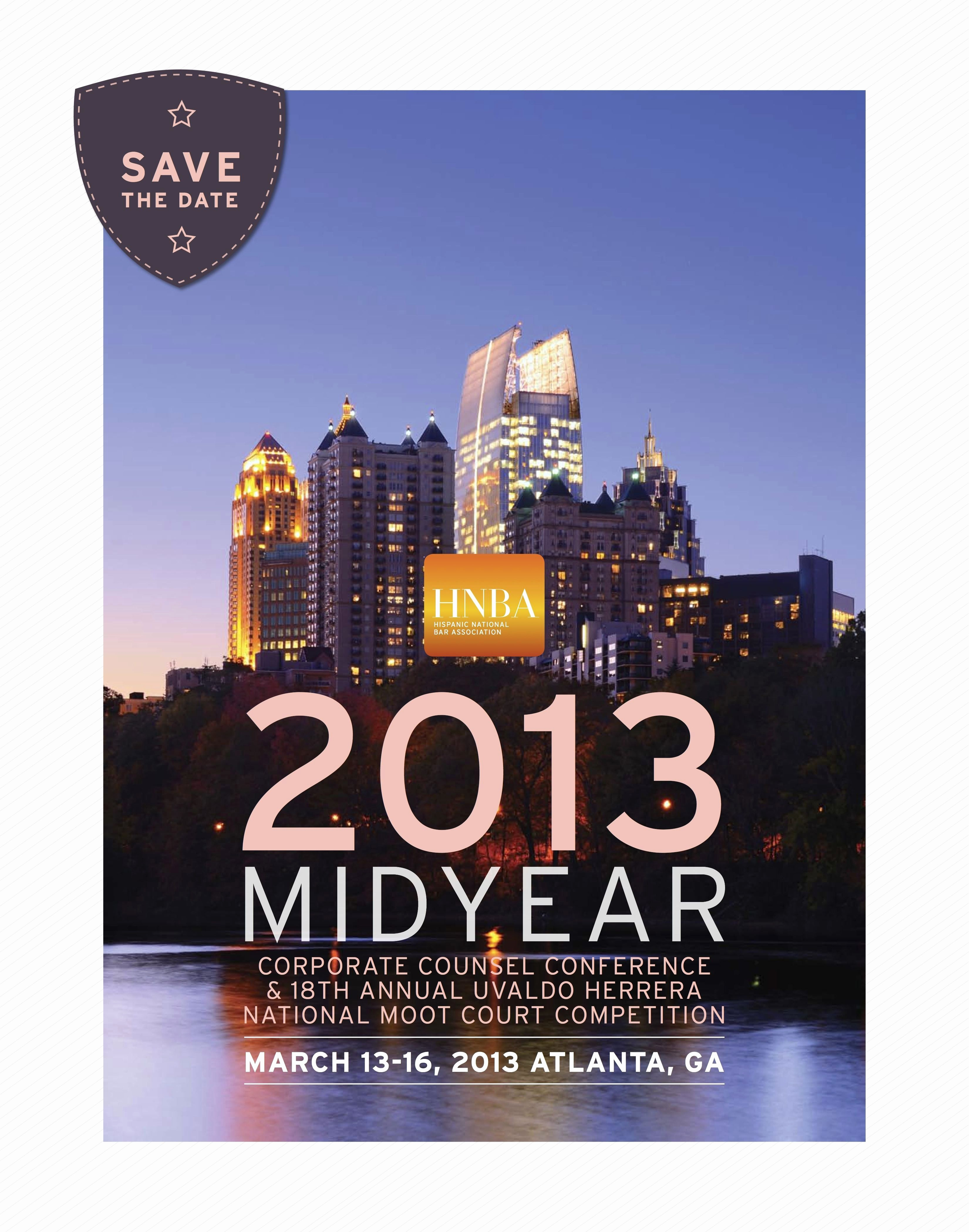 Save the Date Flyer Ideas Unique Save the Date Card for the 2013 Mid Year Corporate Counsel