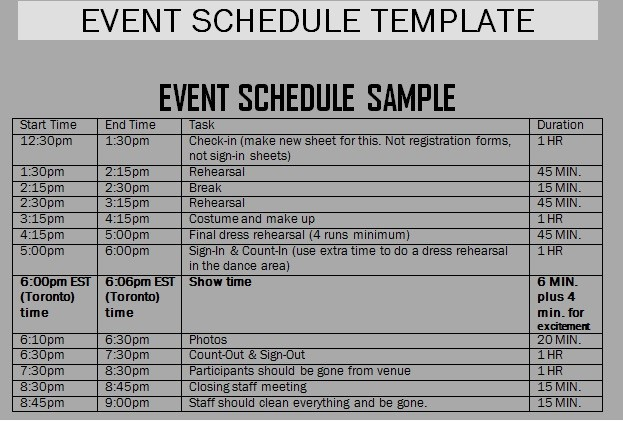 Schedule Of events Template Word Awesome event Schedule Templates Word Excel Samples