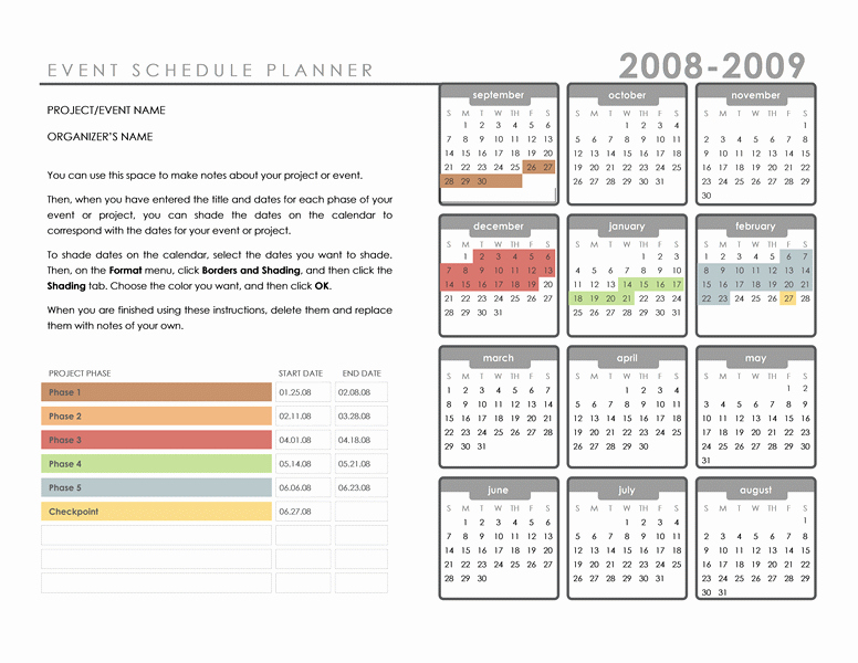 Schedule Of events Template Word Best Of Best S Of events Schedule Template Microsoft Word