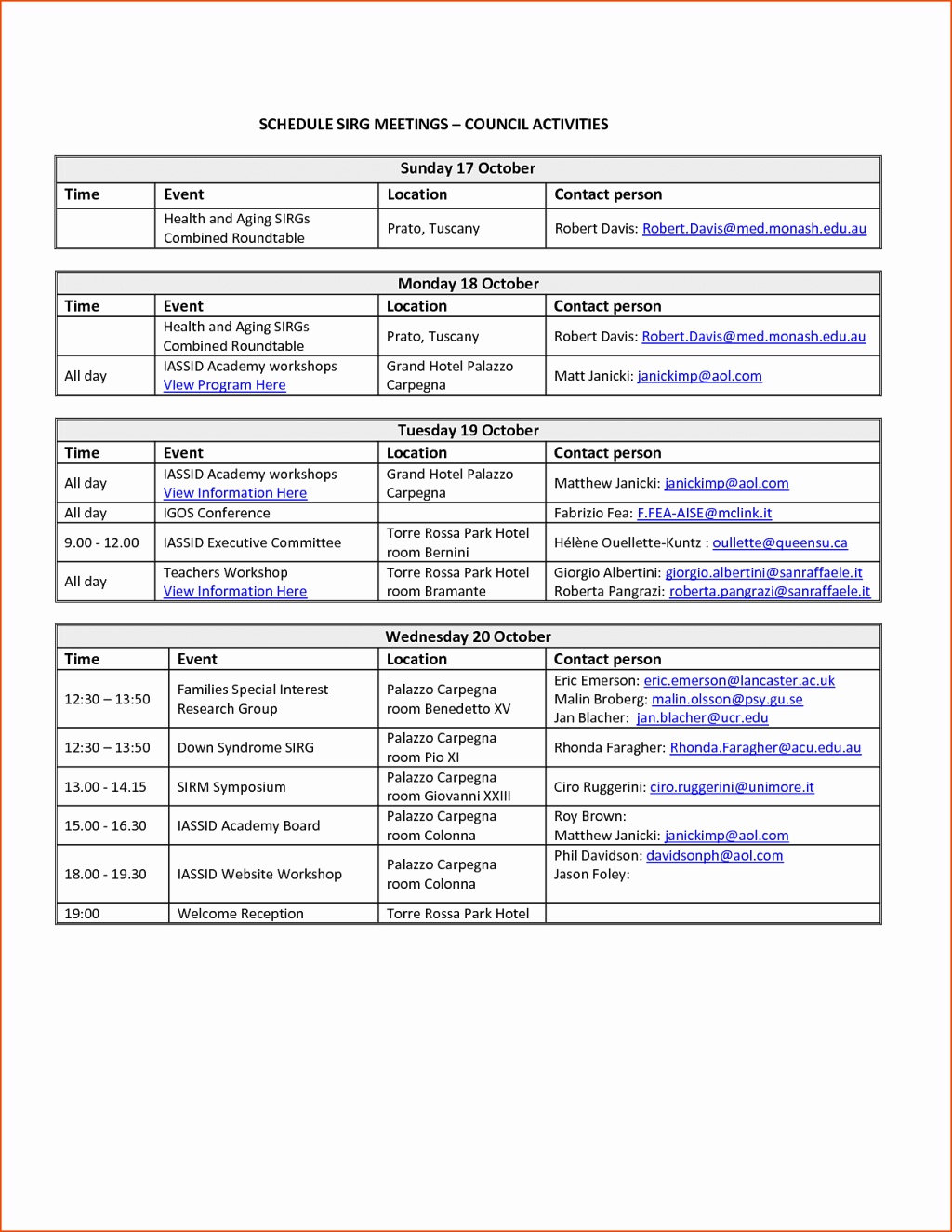 Schedule Of events Template Word Best Of Business Travel Itinerary Example form Templat Template