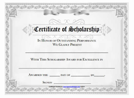 Scholarship Award Certificate Template Free Beautiful 100 Huge Collection Of Free Certificate Templates Xdesigns