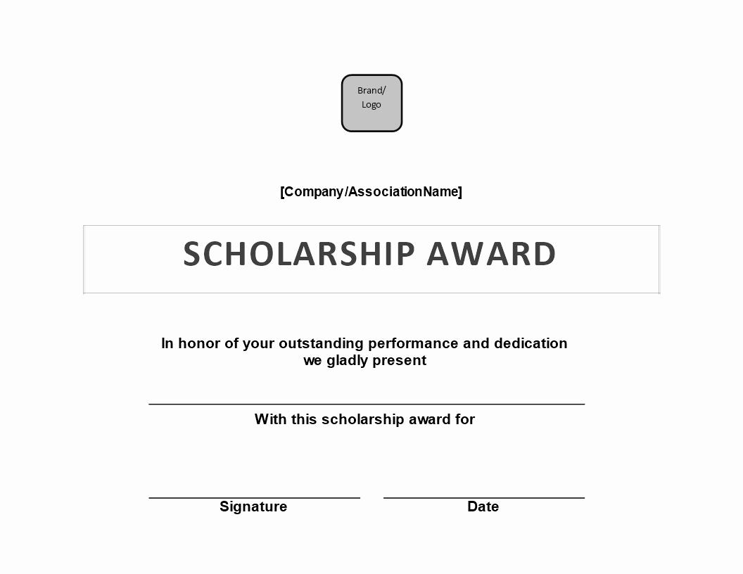 Scholarship Award Certificate Template Free Best Of Free Scholarship Award Certificate