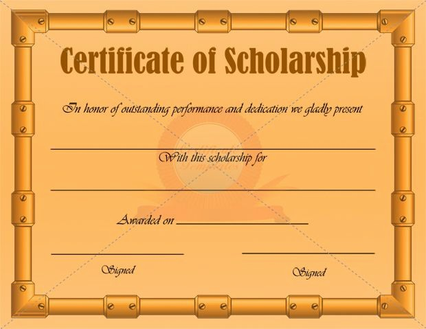 Scholarship Award Certificate Template Free Best Of Scholarship Certificate Template