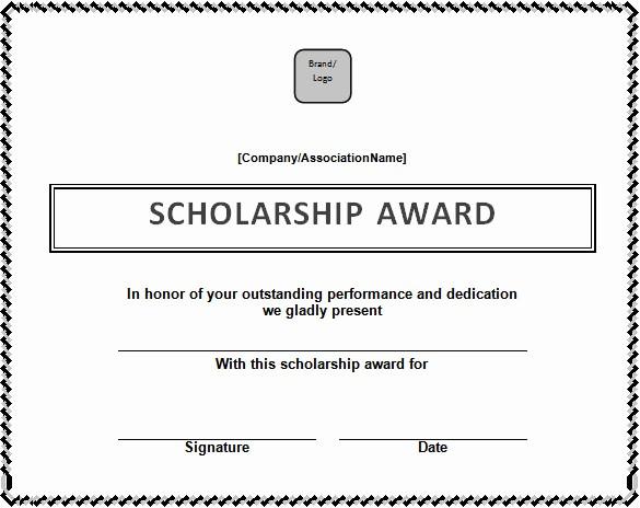 Scholarship Award Certificate Template Free Elegant Certificate Template – 41 Free Printable Word Excel Pdf