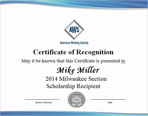 Scholarship Award Certificate Template Free Fresh 9 Scholarship Certificate Templates – Free Word Pdf