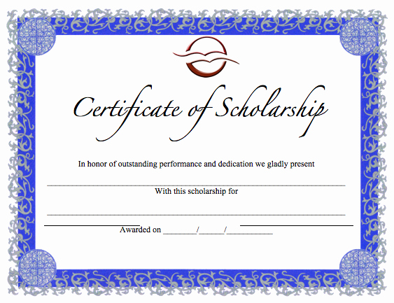 Scholarship Award Certificate Template Free Fresh Certificate Templates Archives Word Templates