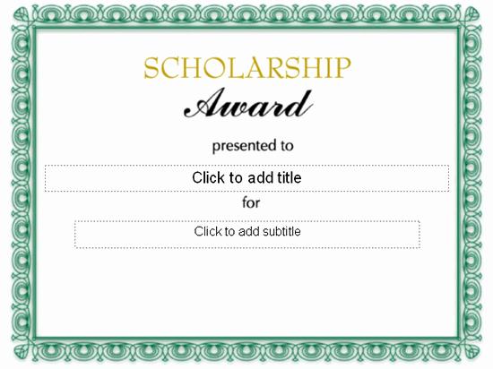Scholarship Award Certificate Template Free Fresh Scholarship Award Certificate Free Certificate Templates
