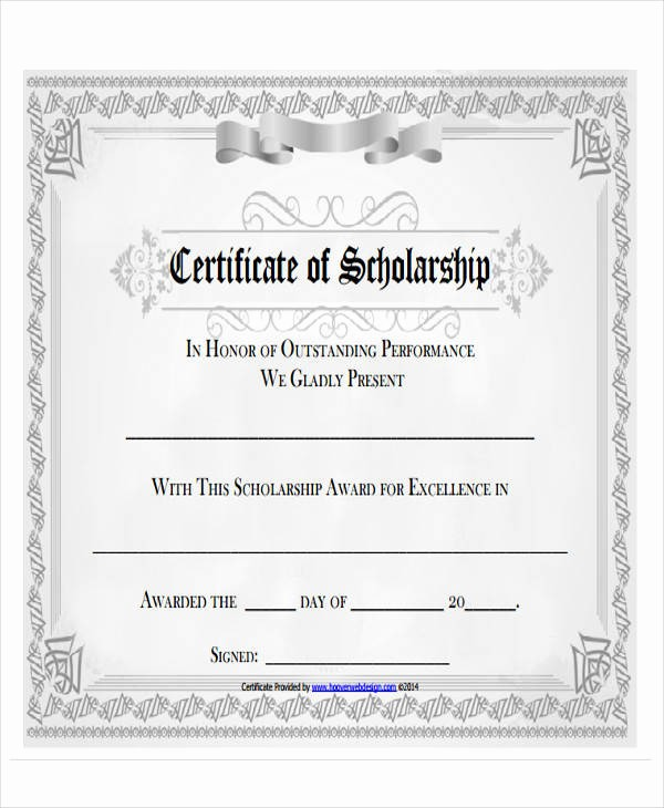 Scholarship Award Certificate Template Free Inspirational 32 Printable Award Certificates