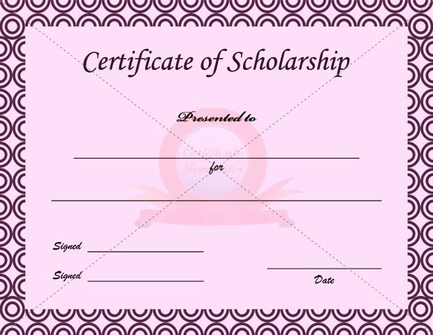 Scholarship Award Certificate Template Free Lovely Scholarship Certificate Template