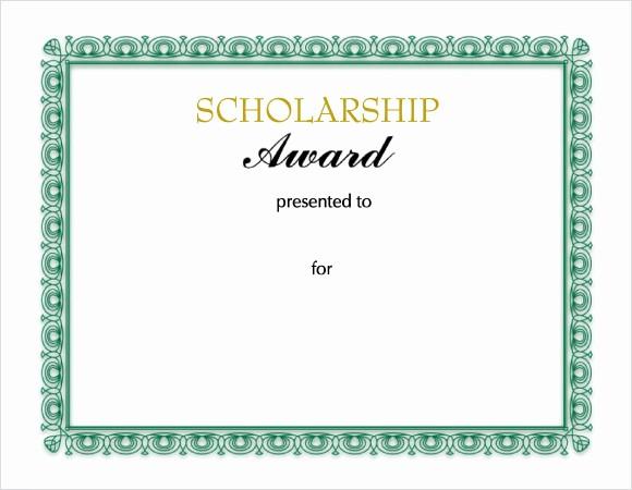 Scholarship Award Certificate Template Free Luxury 10 Scholarship Certificate Templates – Free Samples