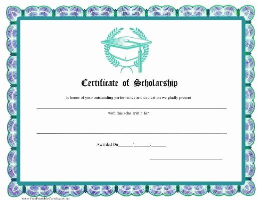 Scholarship Award Certificate Template Free New 18 Best School Certificate Images On Pinterest