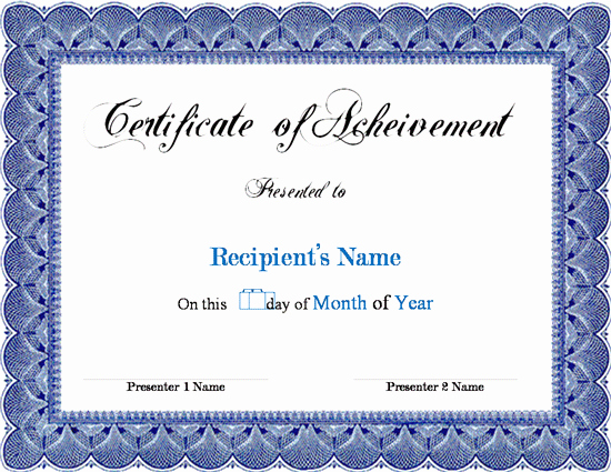 Scholarship Certificate Template for Word Awesome Award Certificate Template Microsoft Word Links Service