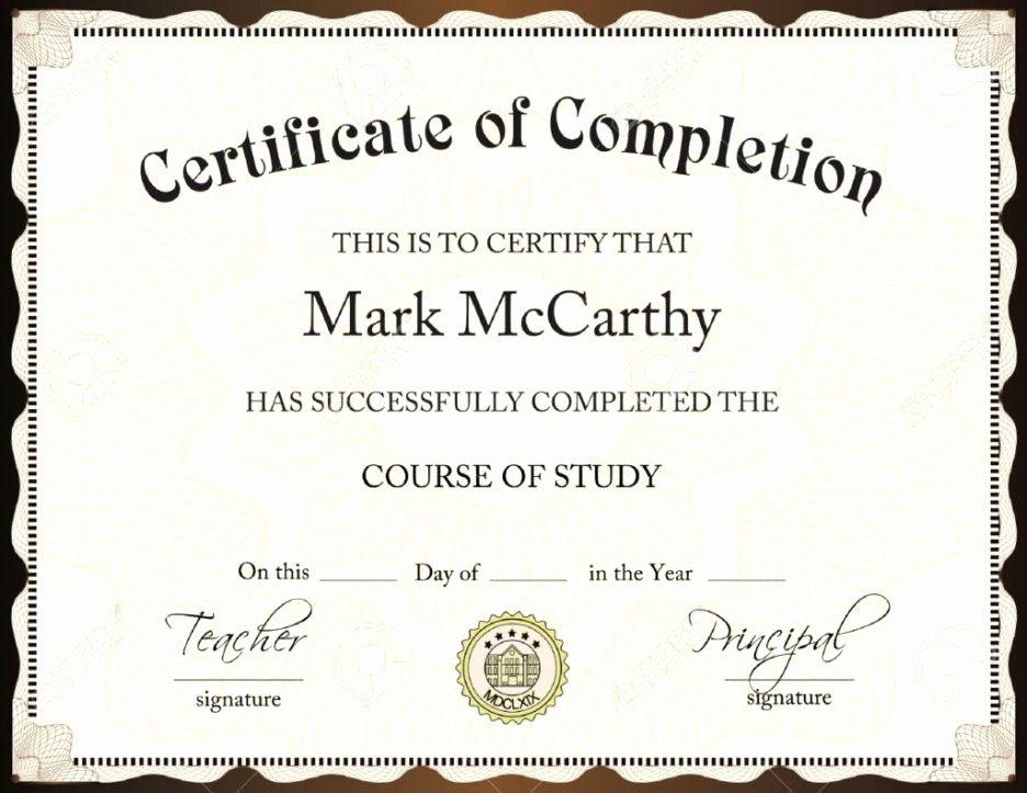 Scholarship Certificate Template for Word Fresh Certificate Template Word Certificate Templates Trakore