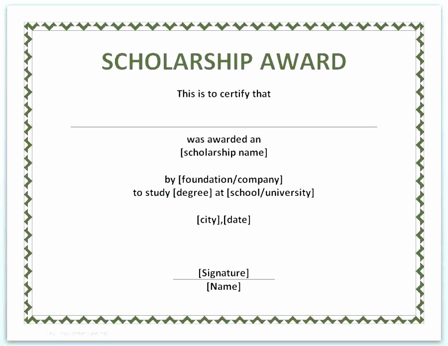 Scholarship Certificate Template for Word Lovely Certificate Templates Word – Puebladigital