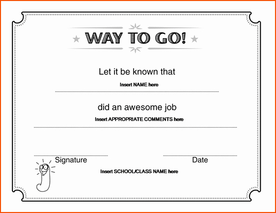 Scholarship Certificate Template for Word New 7 Award Template Word Bookletemplate