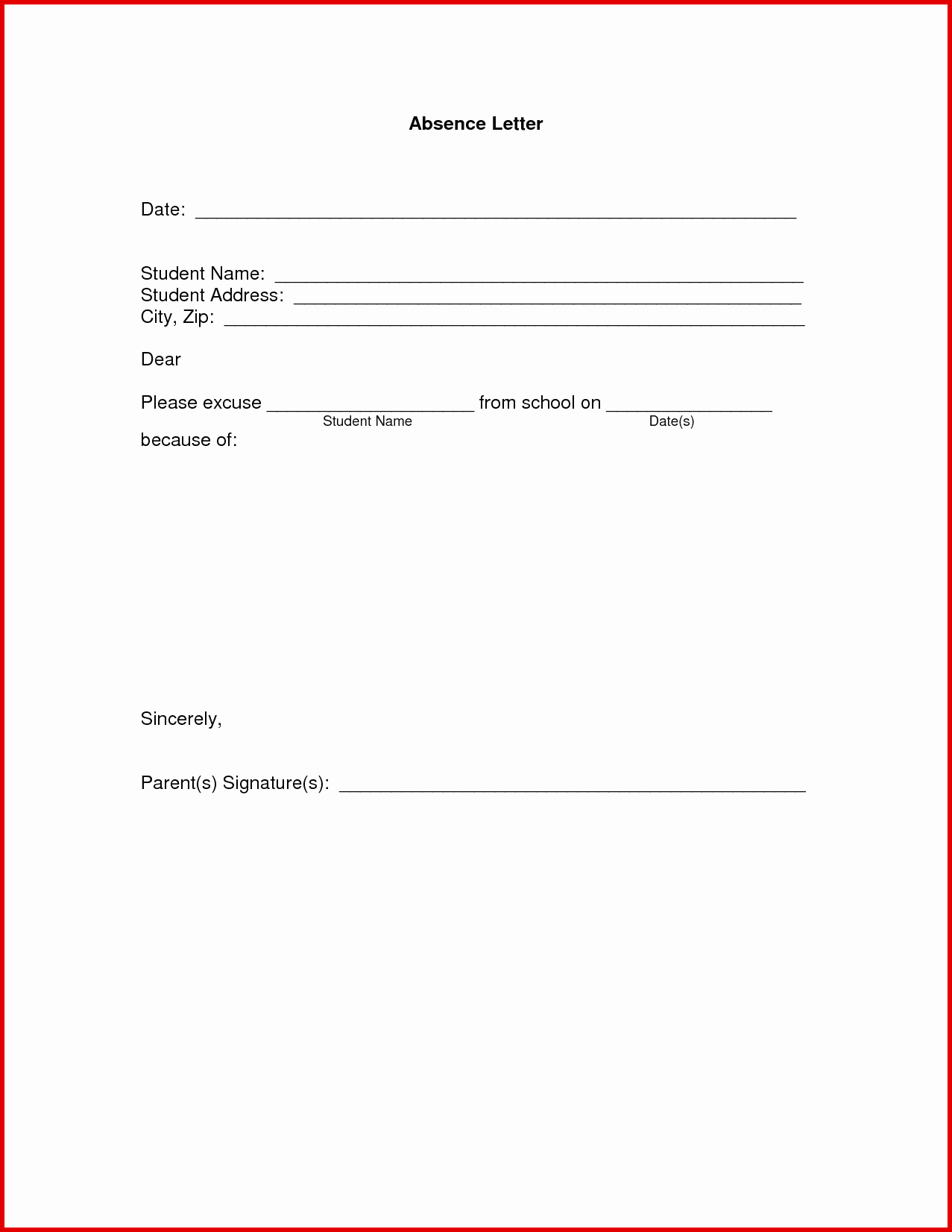 School Absence Excuse Letter Template Beautiful 9 10 Excuse Notes for School Samples