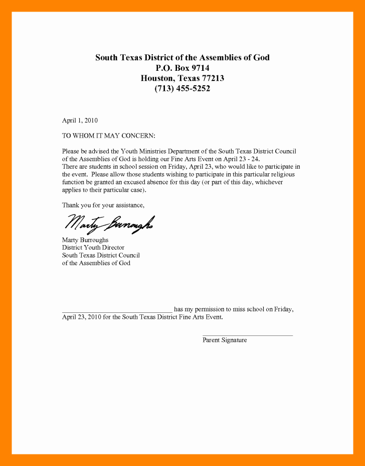 School Absence Excuse Letter Template Lovely School Absence Excuse Letter Sample Examples Absent