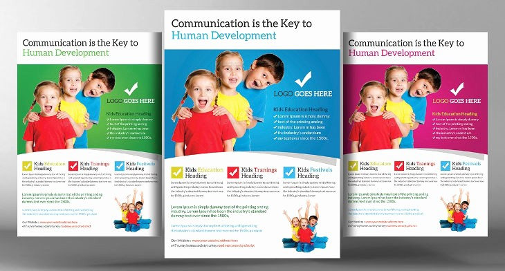 School Brochure Template Free Download Awesome 15 School Flyers