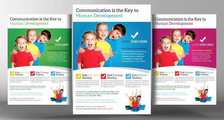 School Brochure Template Free Download Awesome 15 School Flyers