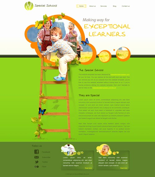 School Brochure Template Free Download Awesome Special School Web Template