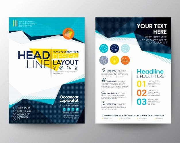 School Brochure Template Free Download Beautiful Brochure Template Design Vector