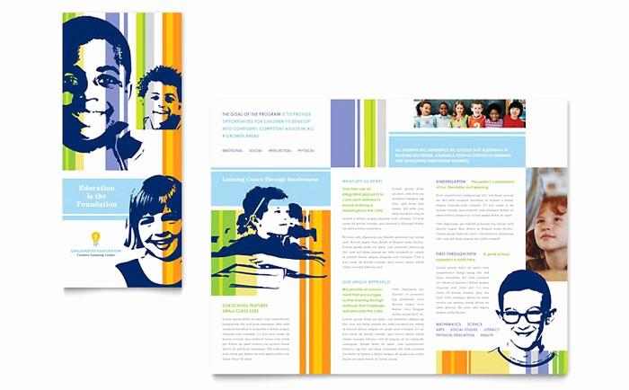 School Brochure Template Free Download Beautiful Learning Center & Elementary School Brochure Template Design