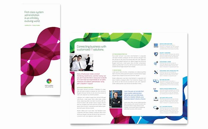 School Brochure Template Free Download Beautiful Network Administration Tri Fold Brochure Template Design