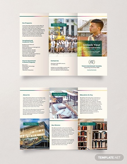 School Brochure Template Free Download Elegant Free Junior High School Brochure Template Download 306
