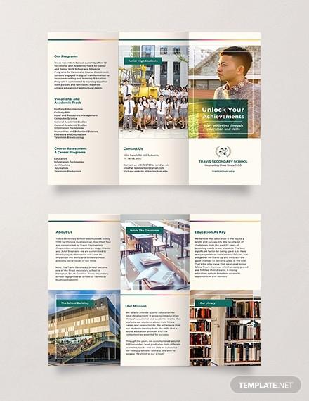 School Brochure Template Free Download Elegant Free Junior High School Brochure Template Download 306