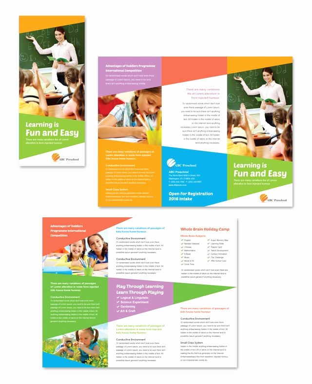 School Brochure Template Free Download Fresh 1000 Ideas About Tri Fold Brochure Template On Pinterest