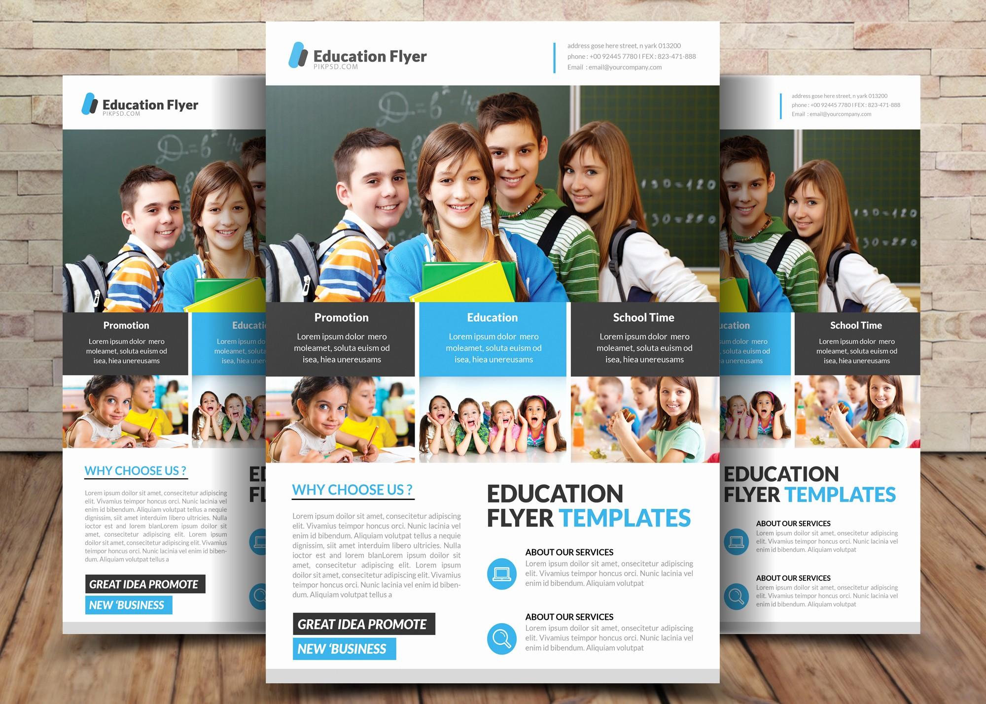 School Brochure Template Free Download Fresh Free School Education Flyer Psd Templates
