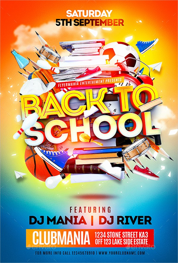 School Brochure Template Free Download Inspirational Back to School Brochure Template Free School Flyers Free