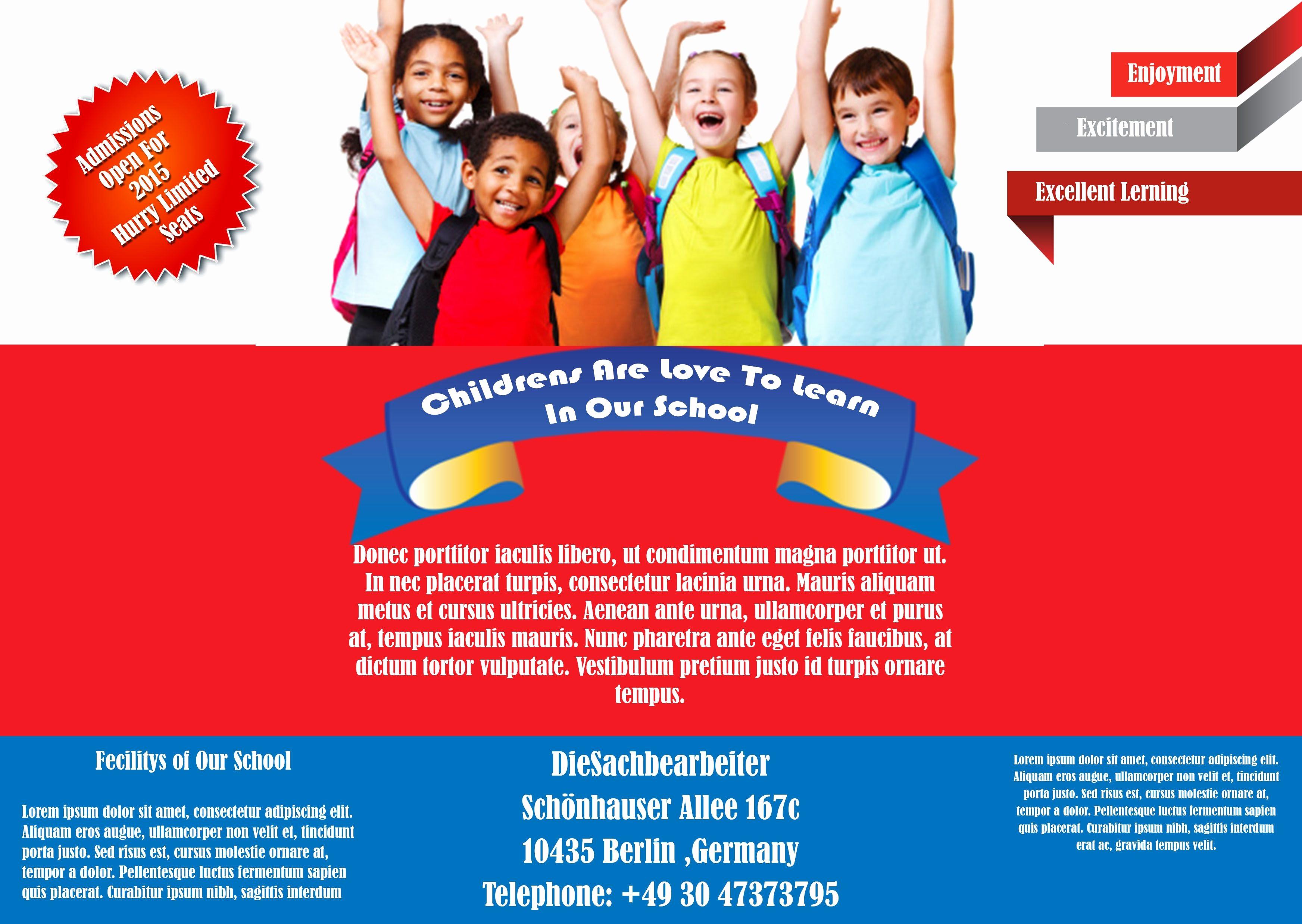 School Brochure Template Free Download Inspirational Best Free School Flyer Templates to Light Up Your Academic