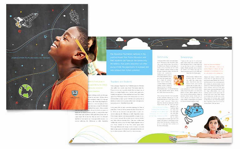 School Brochure Template Free Download Inspirational Education Foundation & School Brochure Template Word