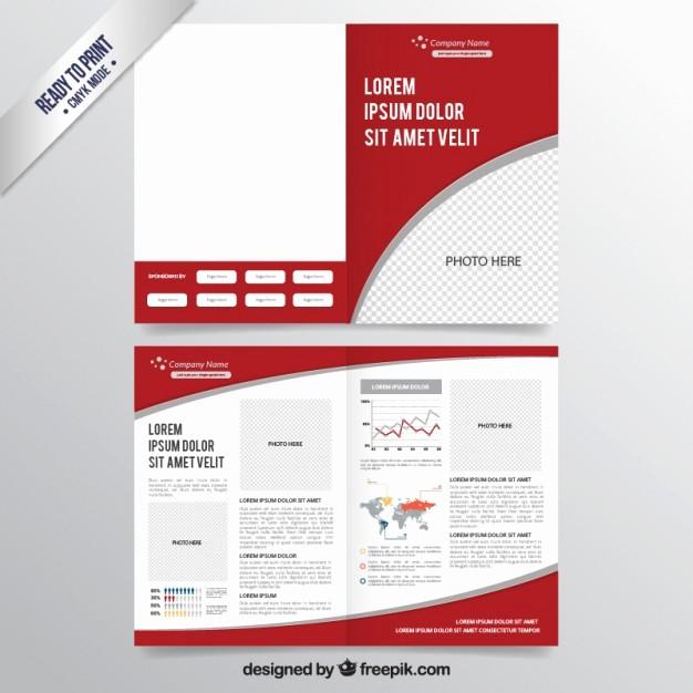 School Brochure Template Free Download Inspirational Red Brochure Template Vector