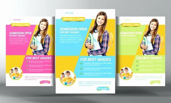 School Brochure Template Free Download Unique Education Brochure