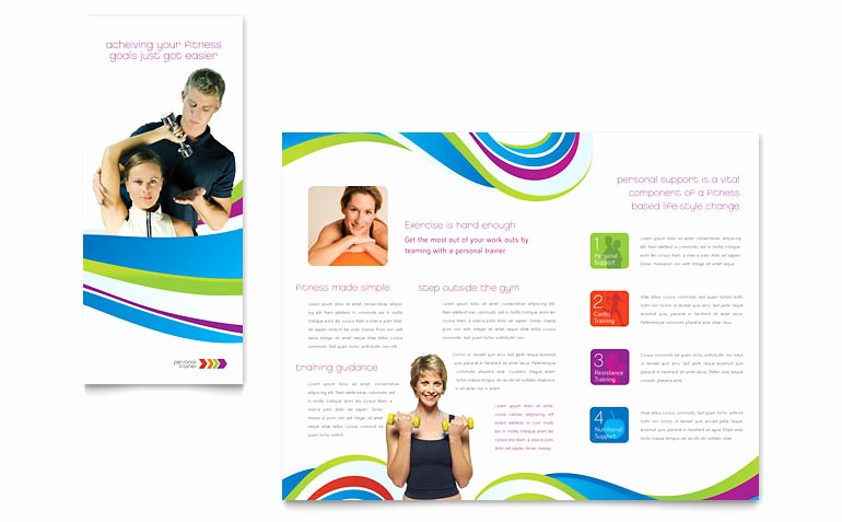 School Brochure Template Free Download Lovely Personal Trainer Brochure Template Word & Publisher